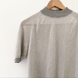 Vintage Italian 1960's Gray Short Sleeved Sweater